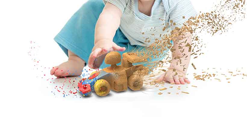 Child with Toy, Circular life of Biocomposites