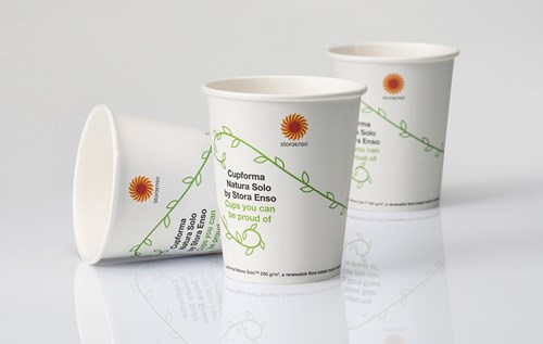 Cupforma Natura Solo paperboard for cups